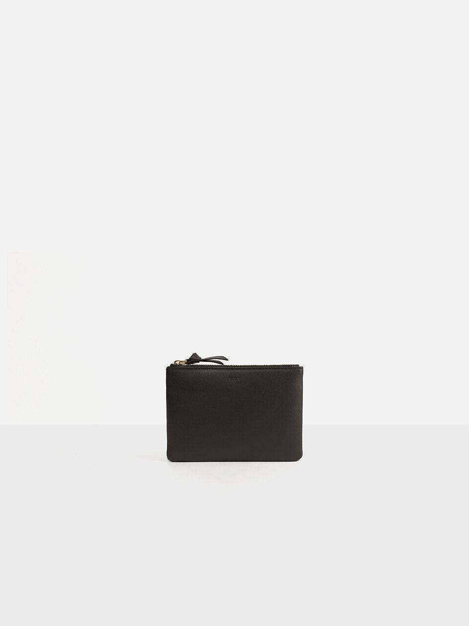 ROH Basic Half Zipper Wallet Umber