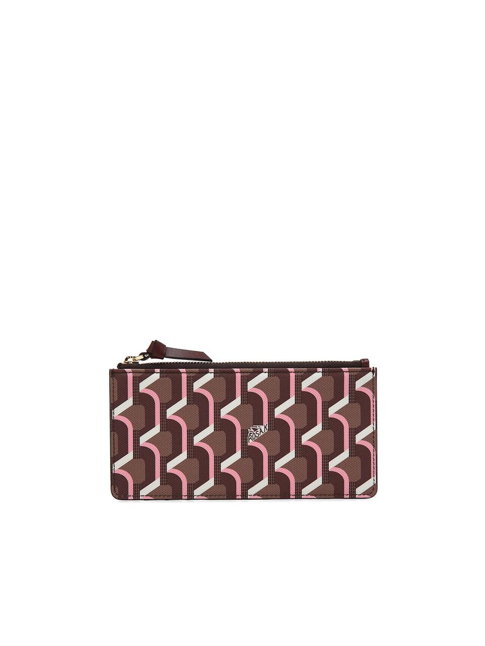 Monogram Slim Card Wallet - Rose Cognac