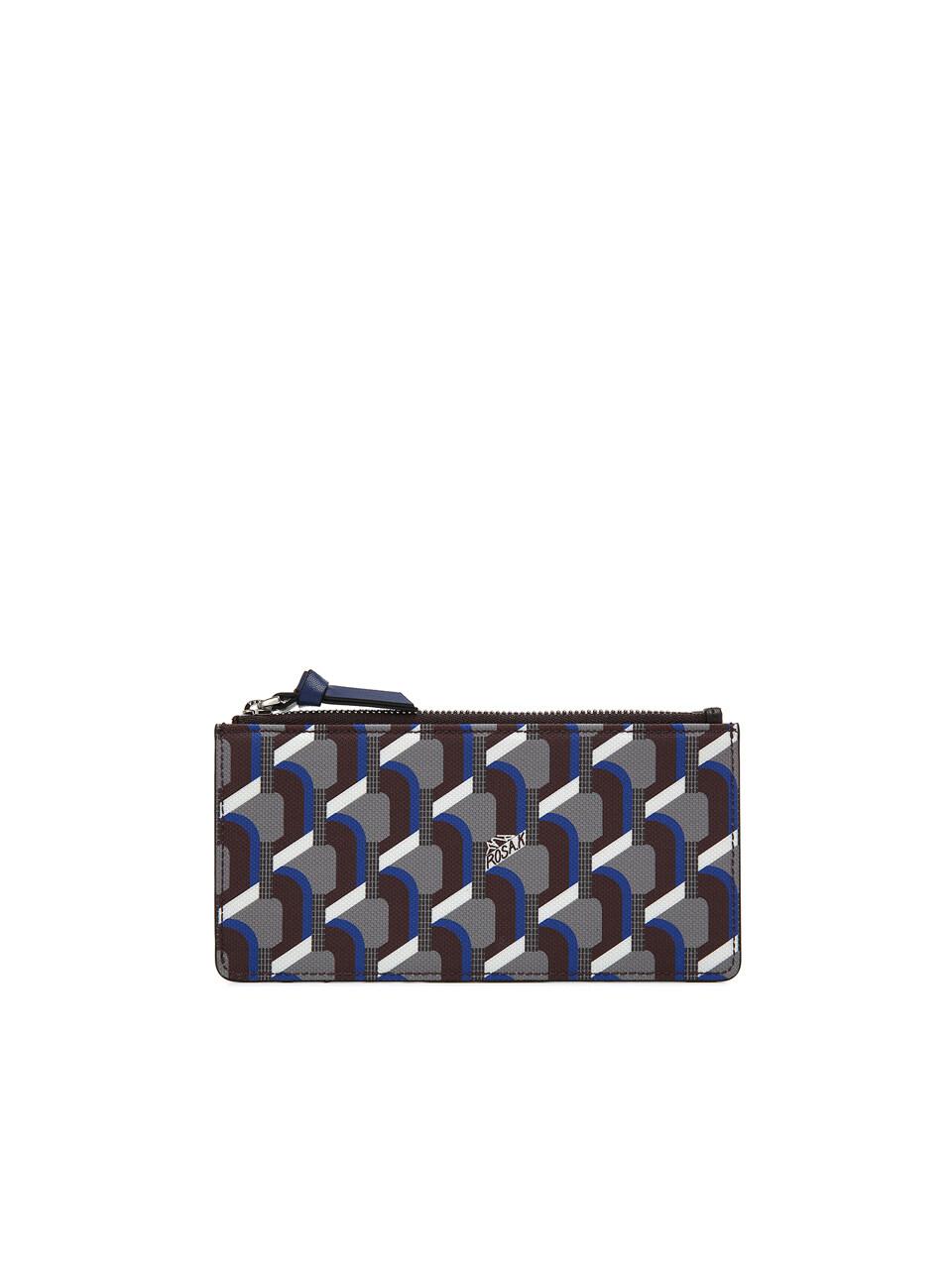 Monogram Slim Card Wallet - Oak Blue