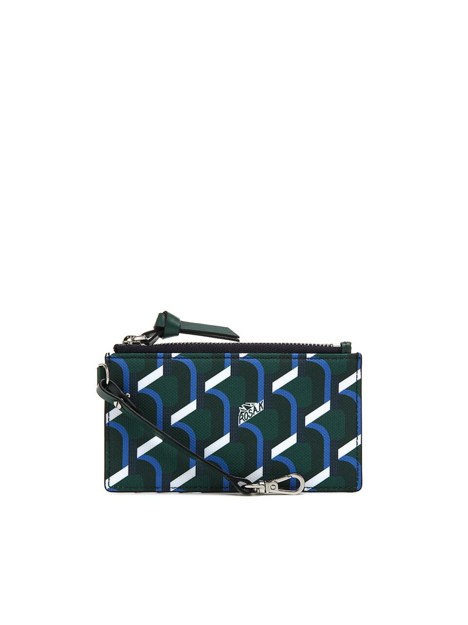 Monogram Key Wallet - Blue Mountain