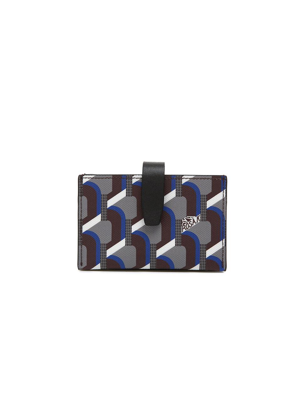 Monogram Accordion Wallet - Oak Blue