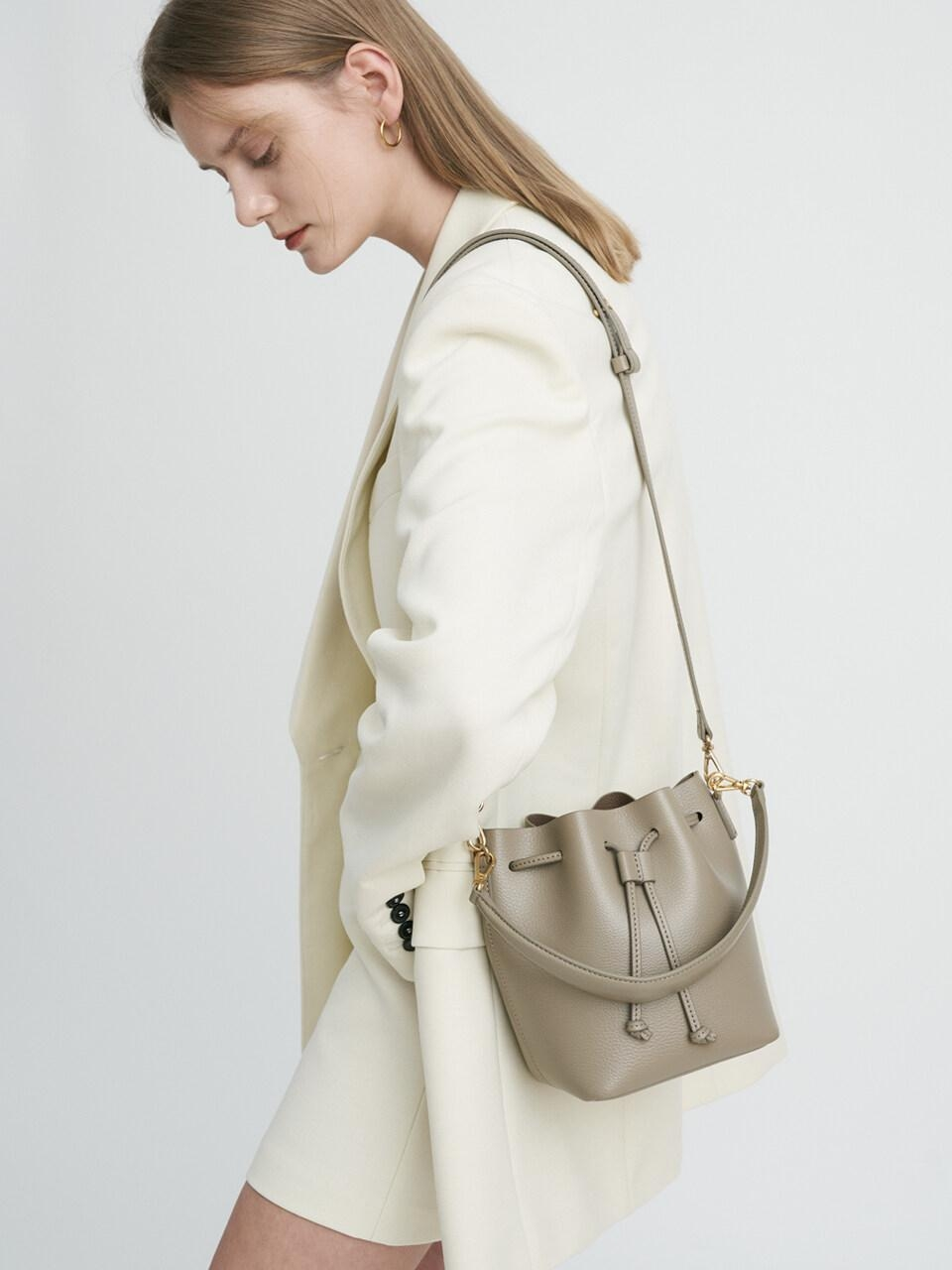 bucket style bag Stone colored bag small