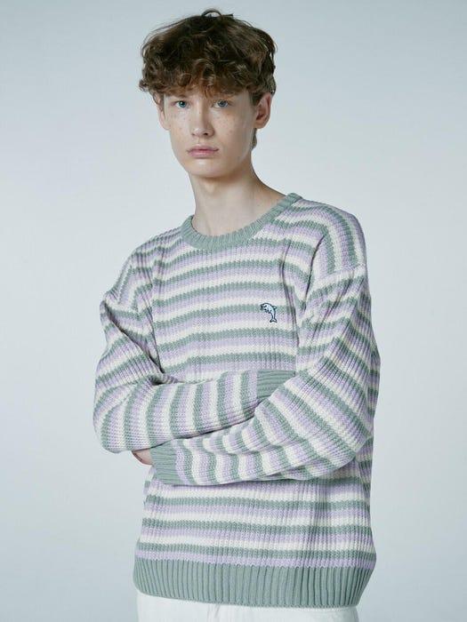 Lee Young Heum WayV Light Stripe Knit Sweater Fashion Fix The Honey POP