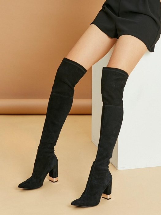 Thigh High Boots Suede