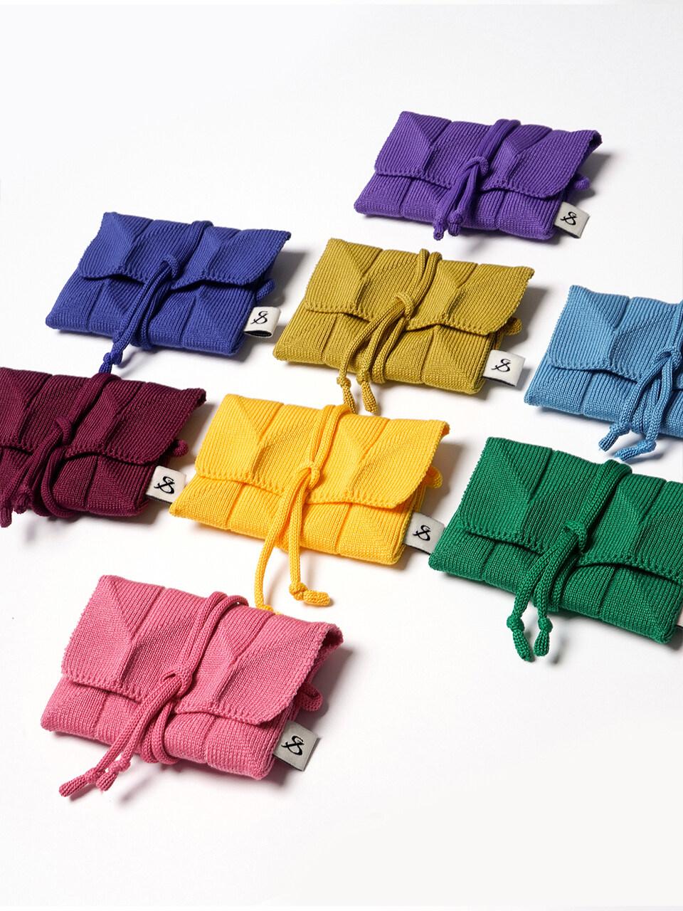 Lucky Pleats Knit Card Wallet ( ALL )