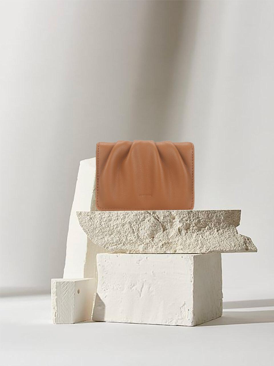 Dough Card Case Tan Brown