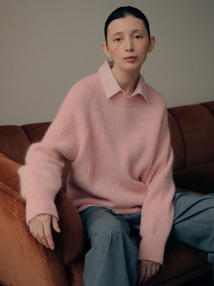Mari Angora Roundneck Knit_Pink    W Concept