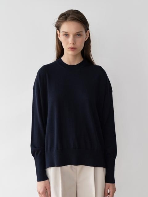 Superfine Merino Wool Crew neck Knit | W Concept